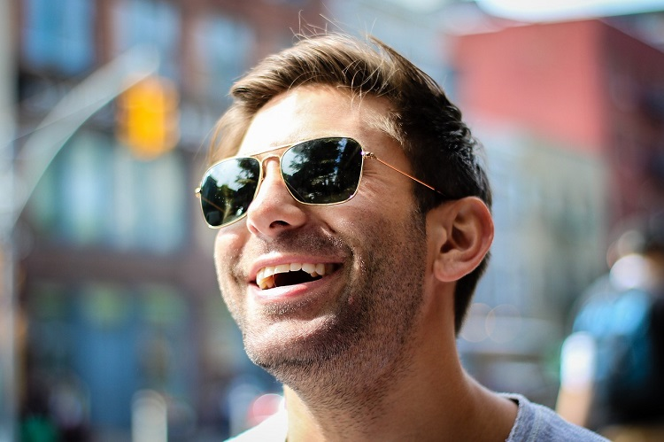 A man in sunglasses
