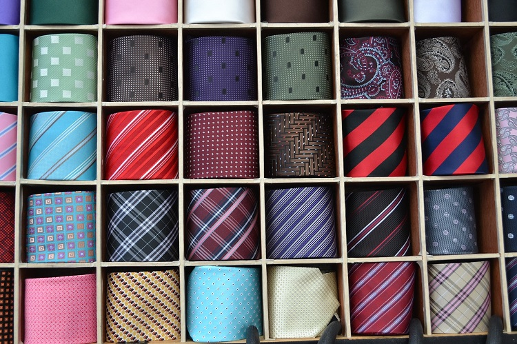 Colorful neckties